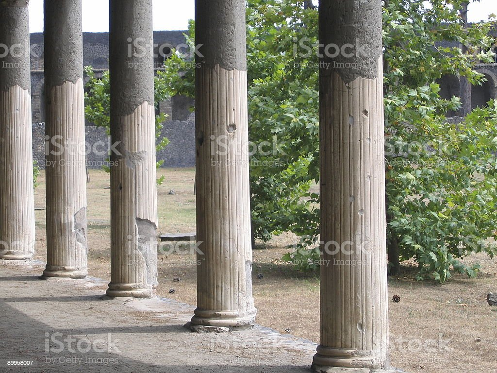 Columns near  Coliseum royalty-free stock photo