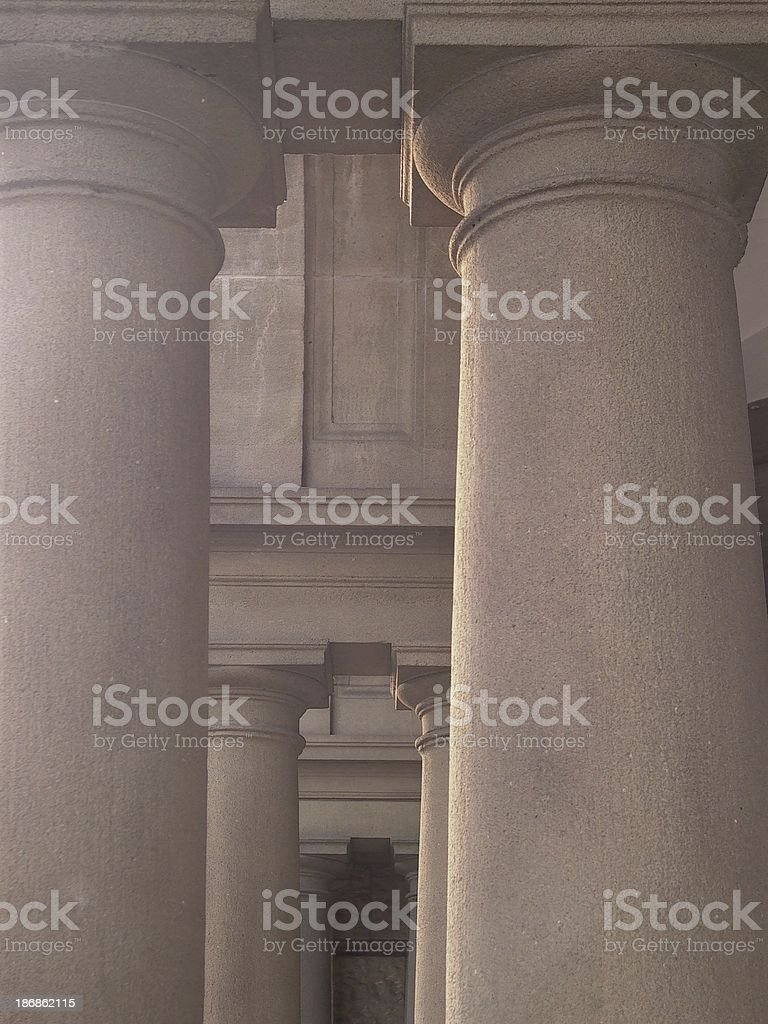 columns of a building stock photo