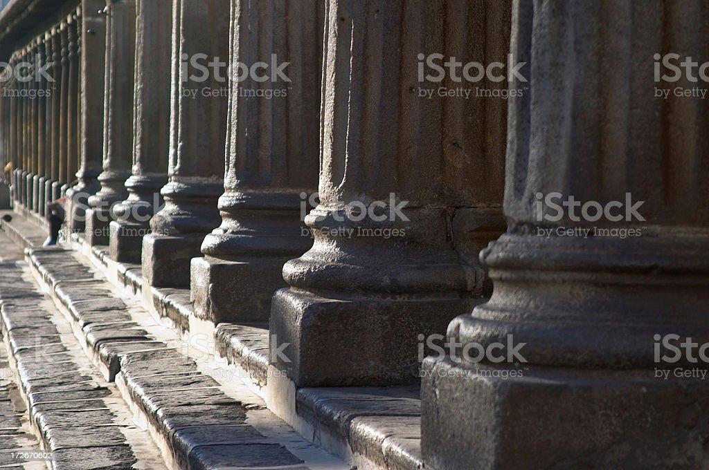 columns of antigua royalty-free stock photo