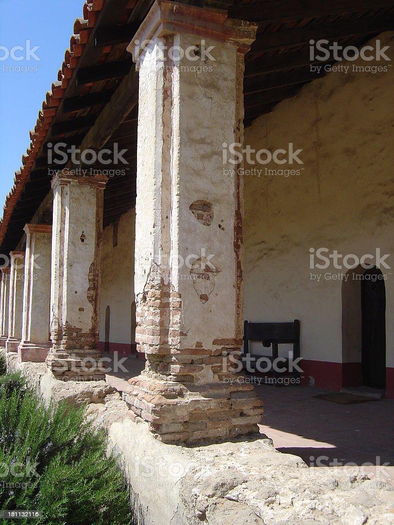 Columns of church royalty-free stock photo