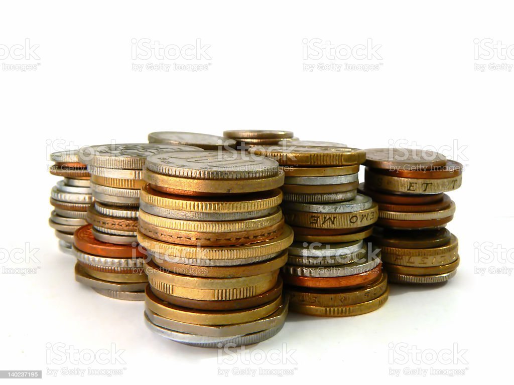 Columns of coins royalty-free stock photo