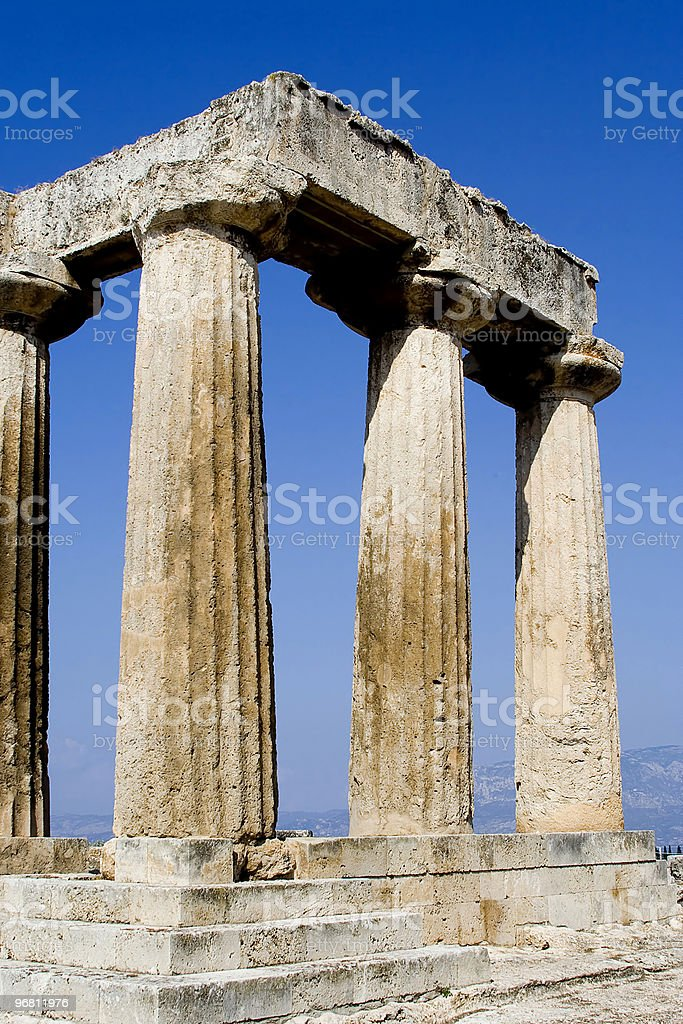 columns of corinthos royalty-free stock photo