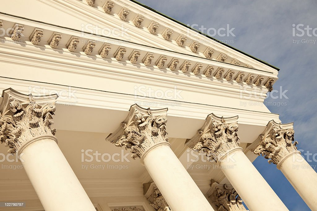 Columns of Lutheran Cathedral in Helsinki royalty-free stock photo