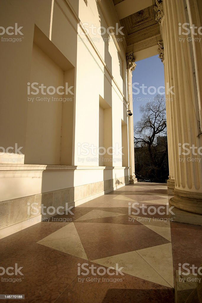 columns of museum royalty-free stock photo