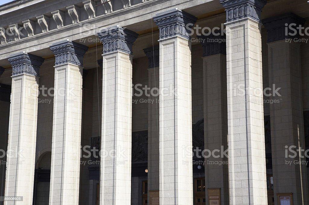 Columns of Novosibirsk opera stock photo