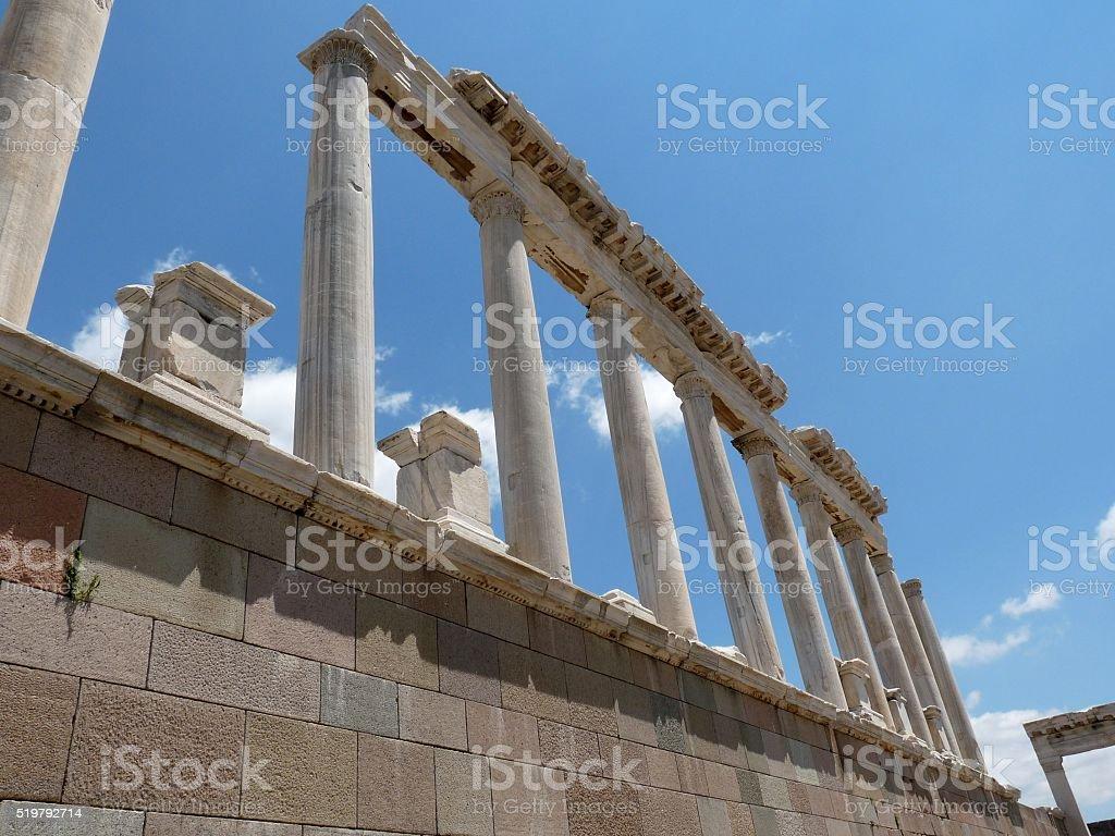 Columns of Pergamon, Turkey stock photo