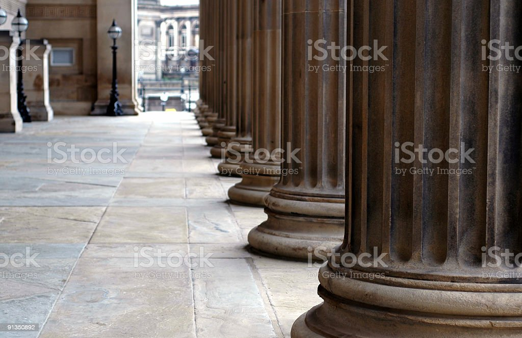 Columns of St. George's Hall 2 royalty-free stock photo