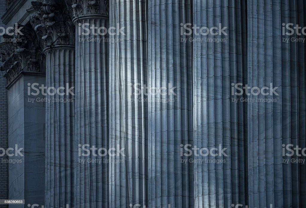 Columns of Stock Exchange, New York stock photo