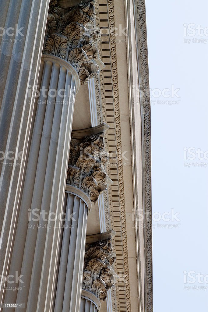 Columns of Stone stock photo