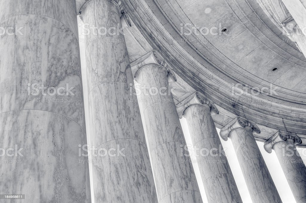 Columns of the Jefferson Memorial in Washington, DC. royalty-free stock photo