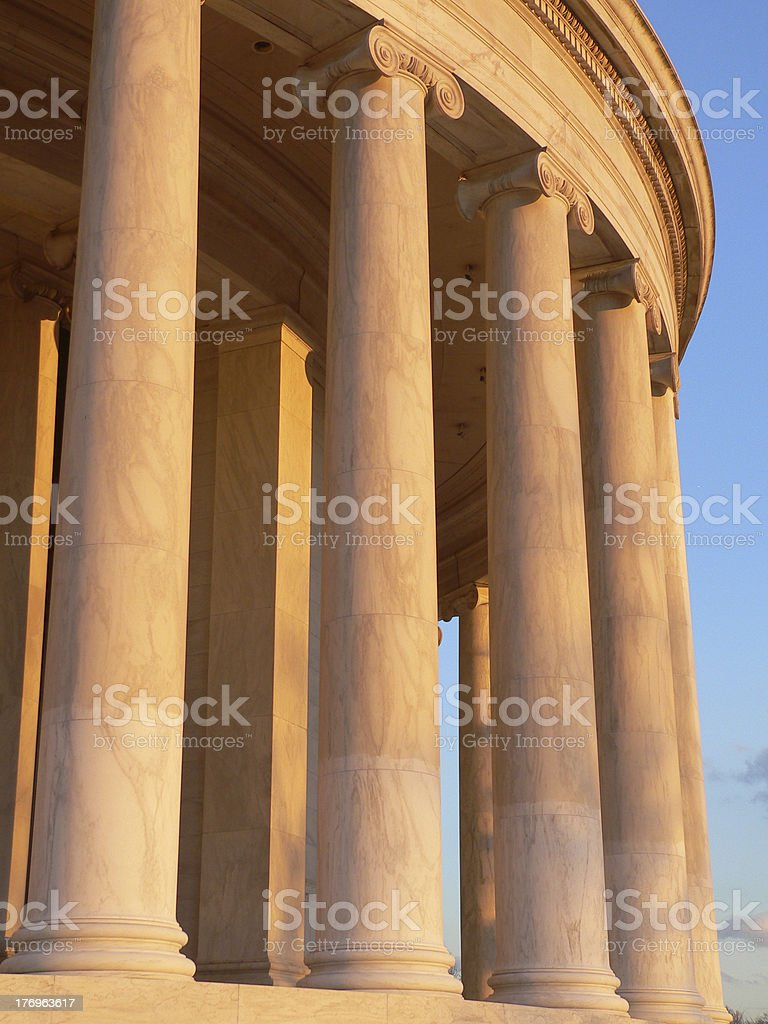 Columns of the Jefferson Memorial royalty-free stock photo
