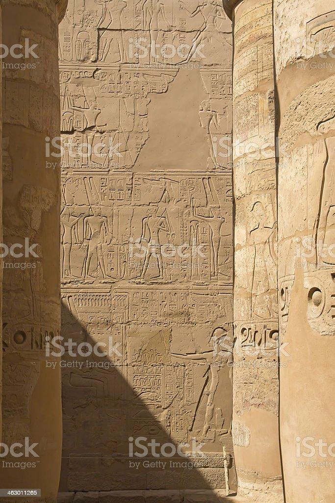 Columns of the Temples Karnak ( Egypt) royalty-free stock photo