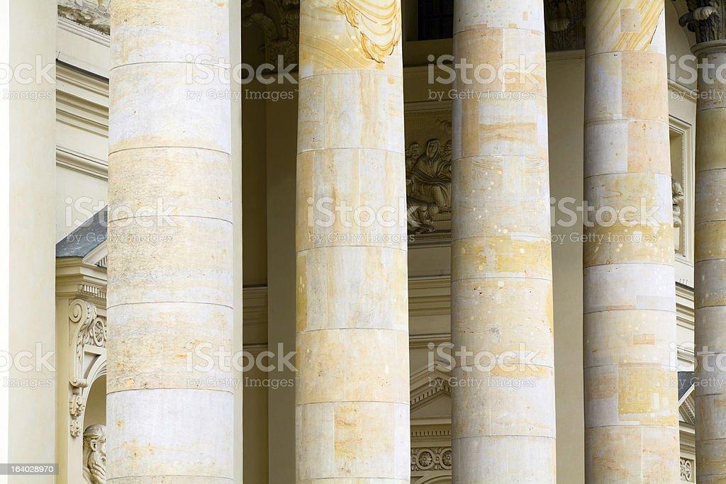 Columns of theatre Schauspielhaus Berlin royalty-free stock photo