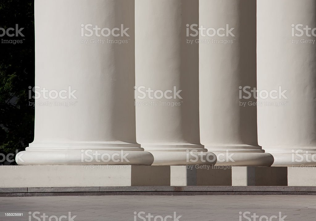 Columns of Vilnius Cathedral royalty-free stock photo