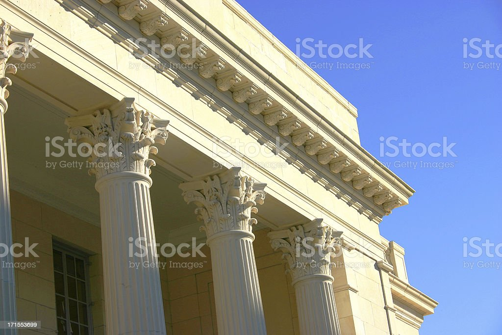 Columns on a Bright Sunny Day royalty-free stock photo