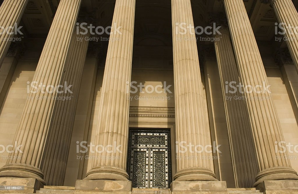 Columns on St Georges Hall, Liverpool, England, completed in 1854 stock photo