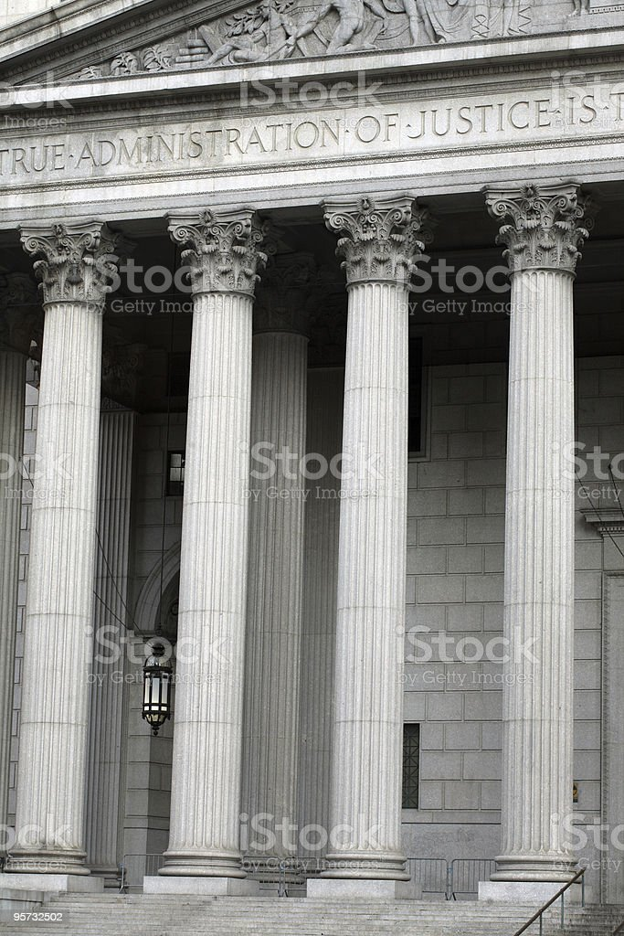 Columns outside Law Court royalty-free stock photo