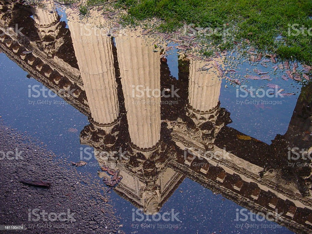 columns reflected royalty-free stock photo