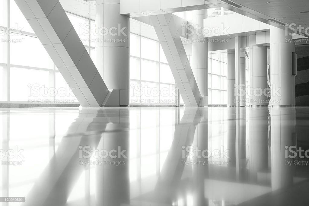 Columns Reflection stock photo