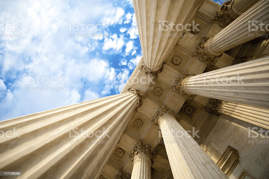 Columns - U.S. Supreme Court stock photo