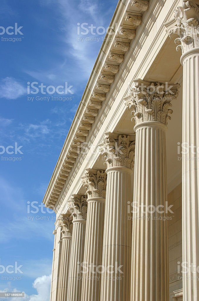 Columns with  Blue Sky stock photo