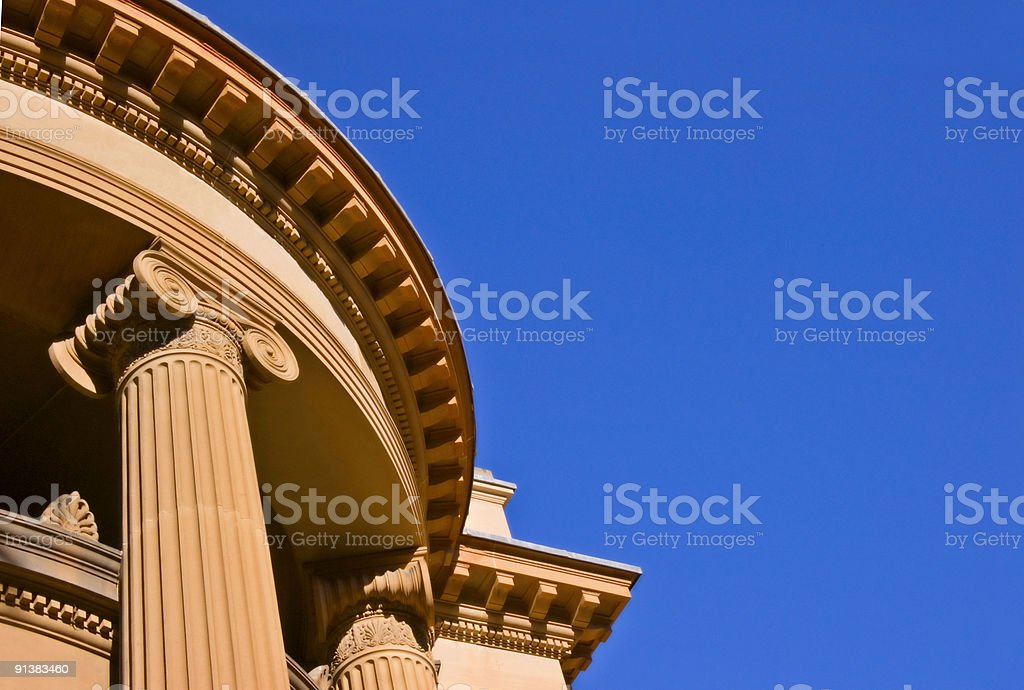 Columns with Scrolled Capitols royalty-free stock photo