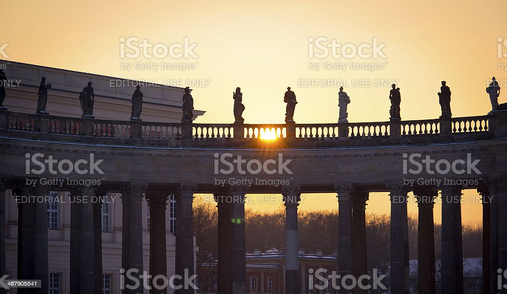 Columns with the Evening Sun royalty-free stock photo