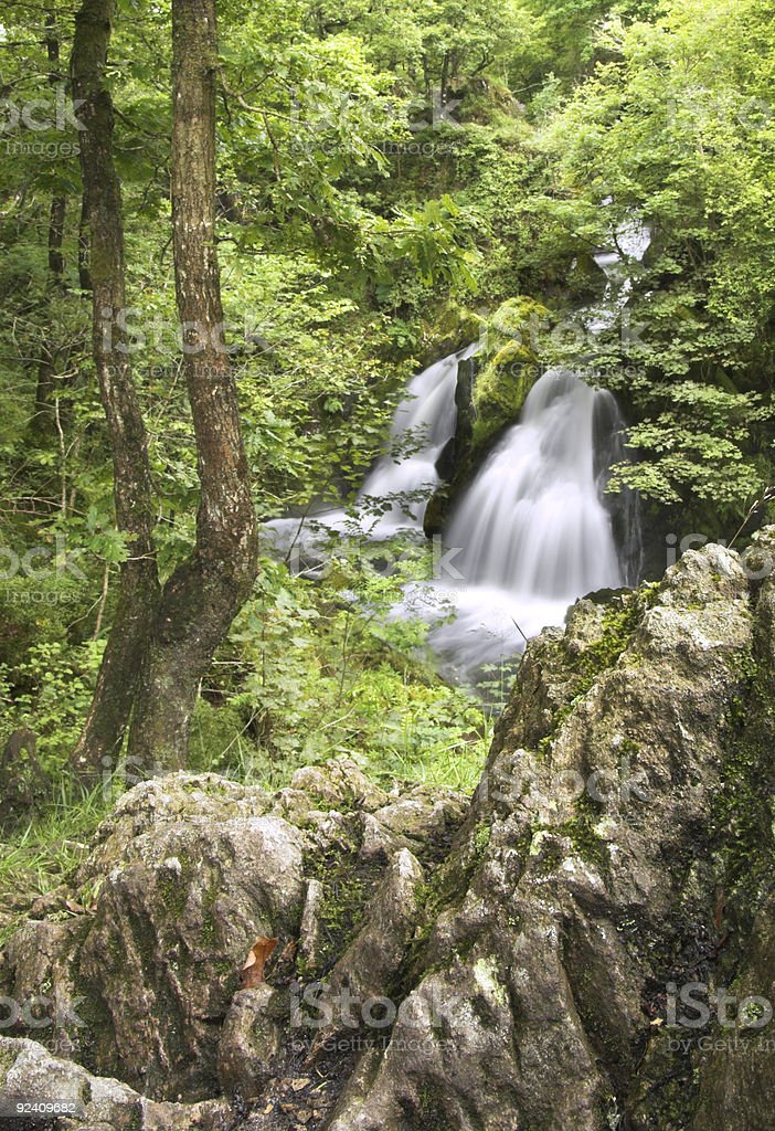 Colwith Force Waterfall royalty-free stock photo
