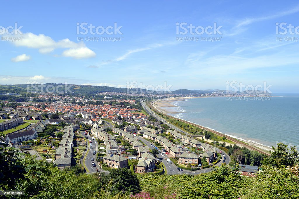 Colwyn Bay in North Wales stock photo