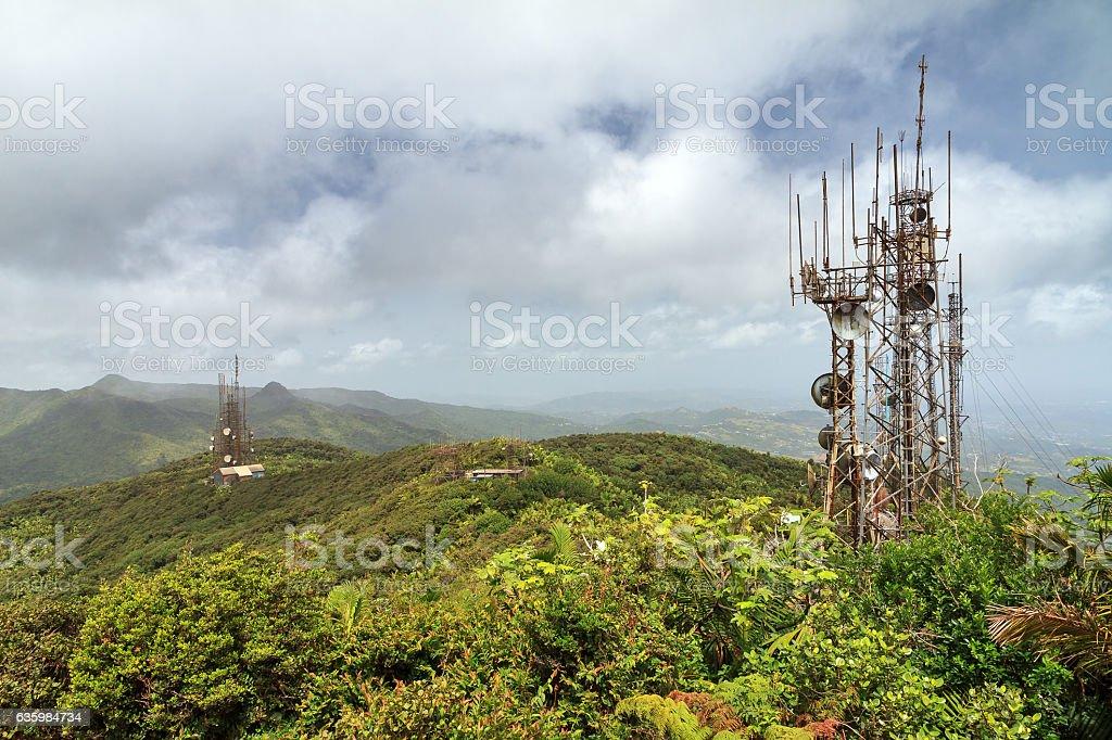 Com towers Puerto Rico stock photo