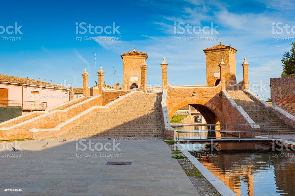 Comacchio, Trepponti bridge stock photo