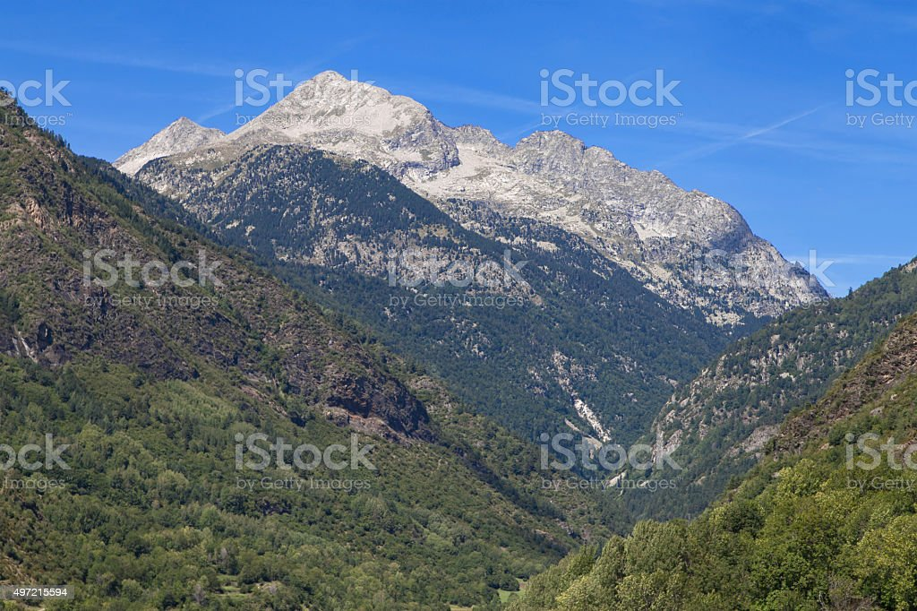Comaloforno peak stock photo