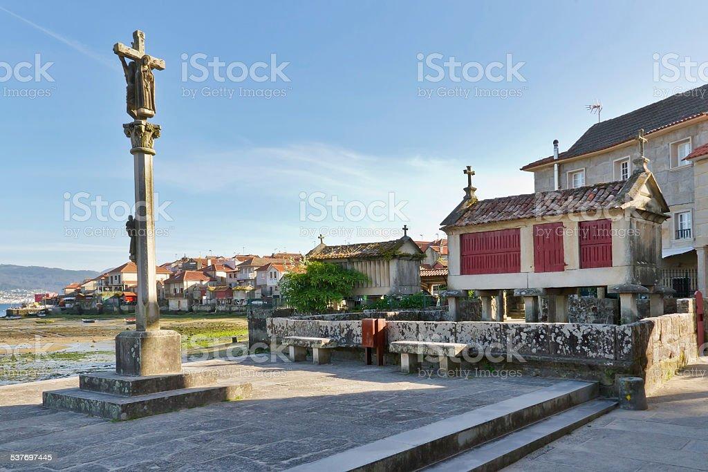 Combarro square stock photo