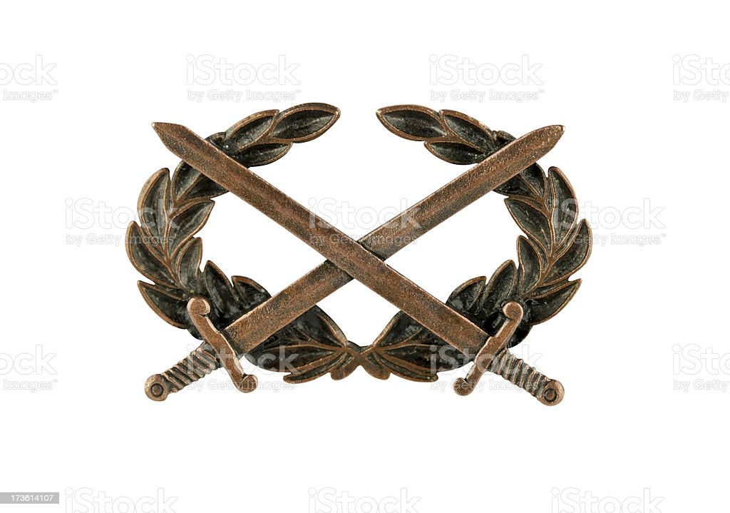 Combat badge royalty-free stock photo