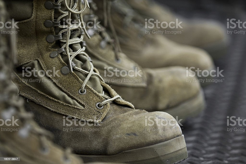 Combat Boots royalty-free stock photo