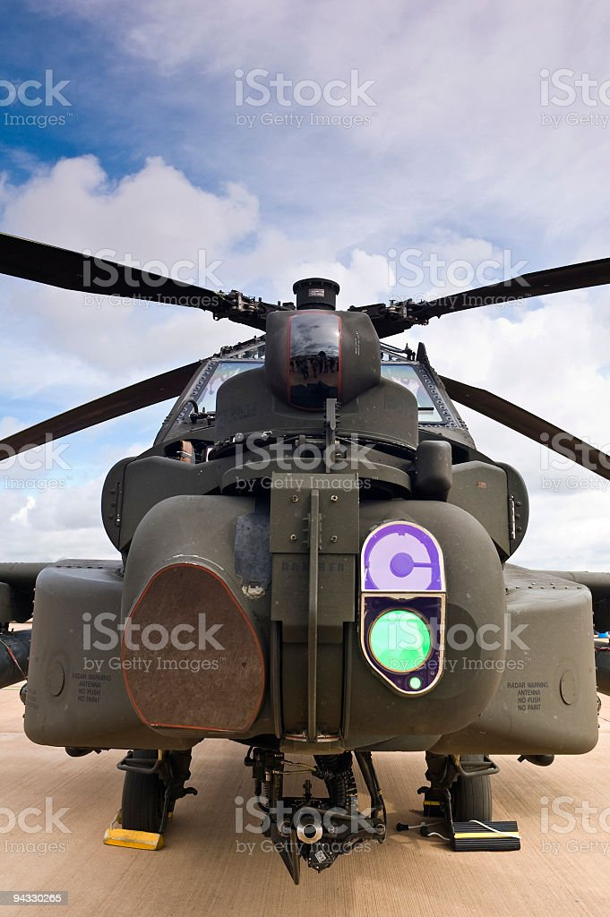 Combat helicopter royalty-free stock photo