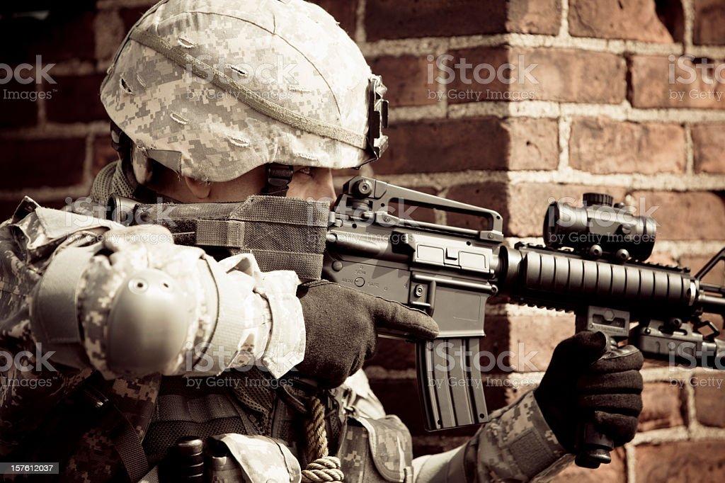 Combat royalty-free stock photo