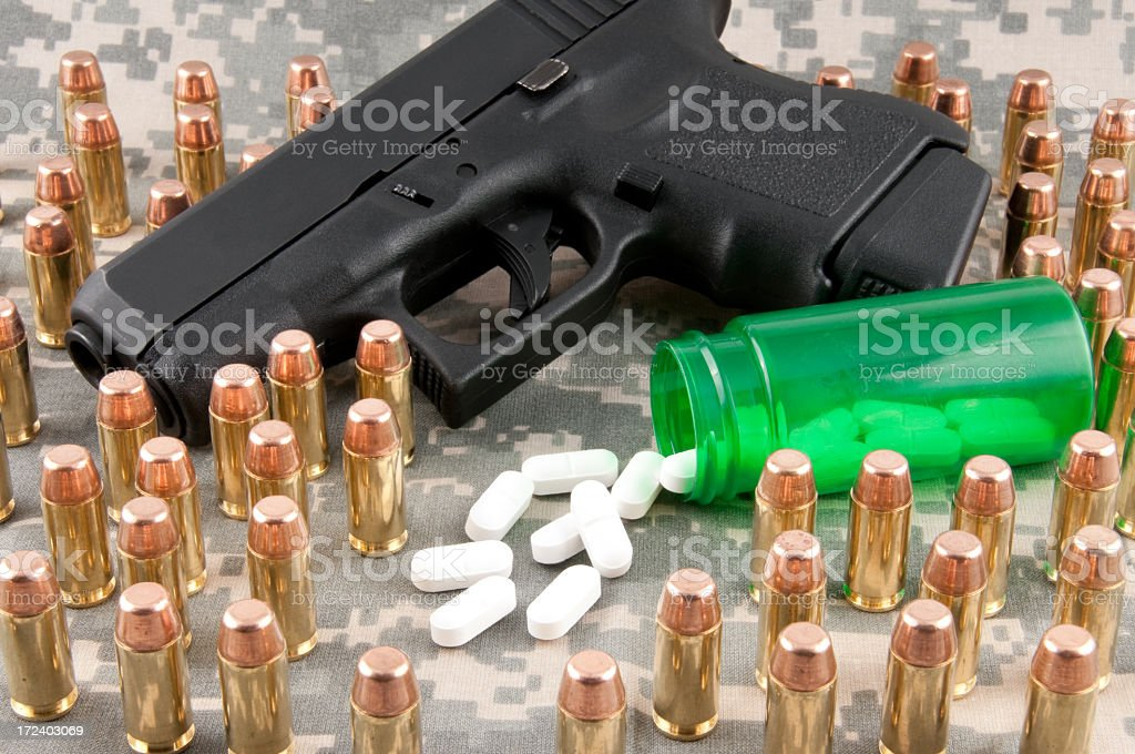 Combat PTSD Concept royalty-free stock photo