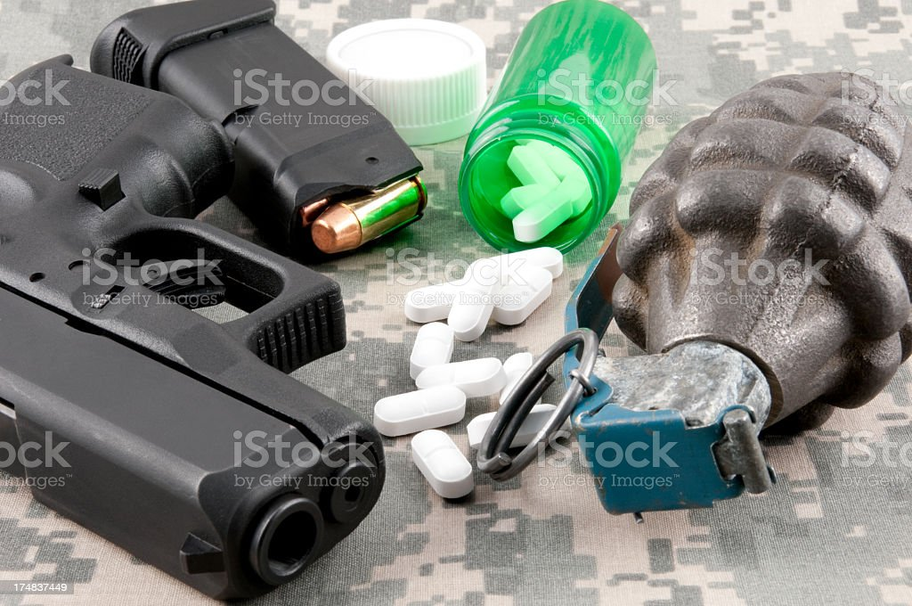 Combat PTSD Concept royalty-free stock photo
