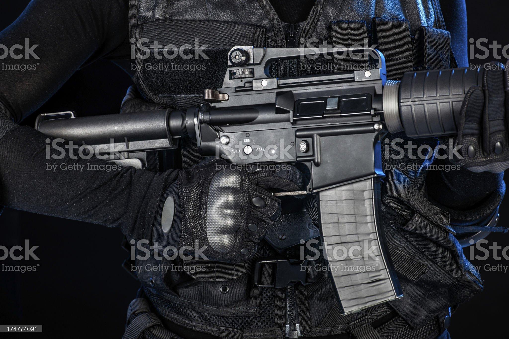 Combat rifle royalty-free stock photo