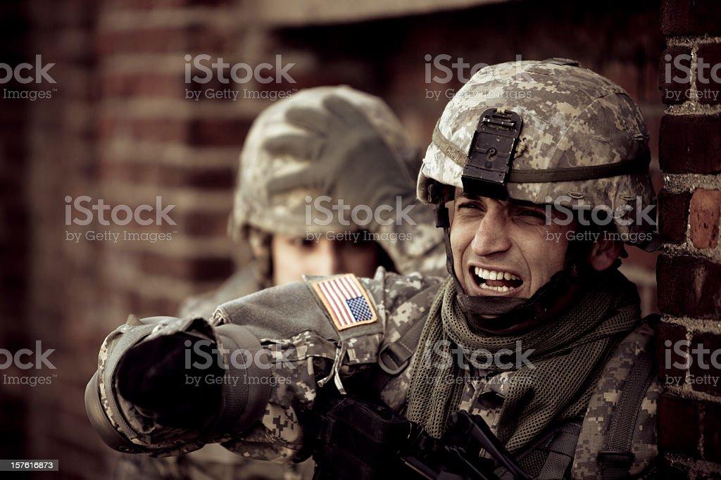 Combat Scene stock photo