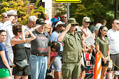 Combat Veterans Salute American Flag At Old Soldiers Day Parade