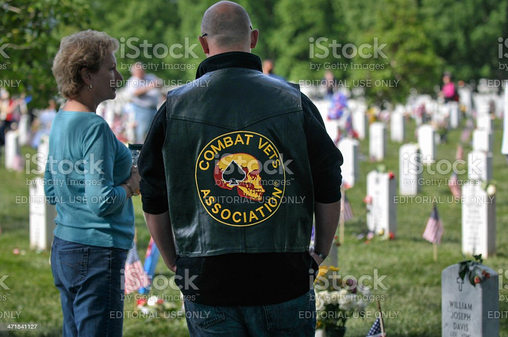 Combat Vets Association, Arlington National Cemetery royalty-free stock photo