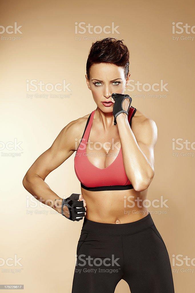 Combat Woman royalty-free stock photo