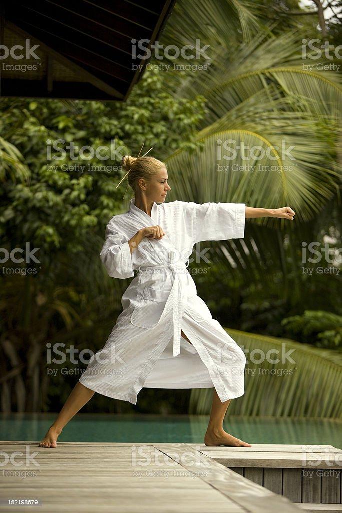 Combative sport royalty-free stock photo