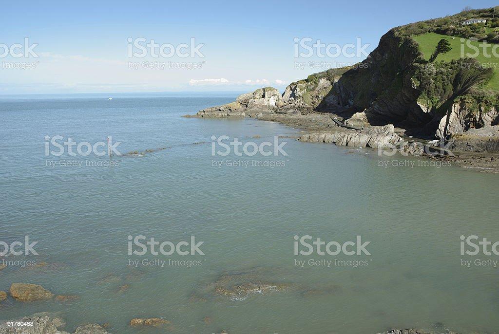 Combe Martin Bay in North Devon. stock photo