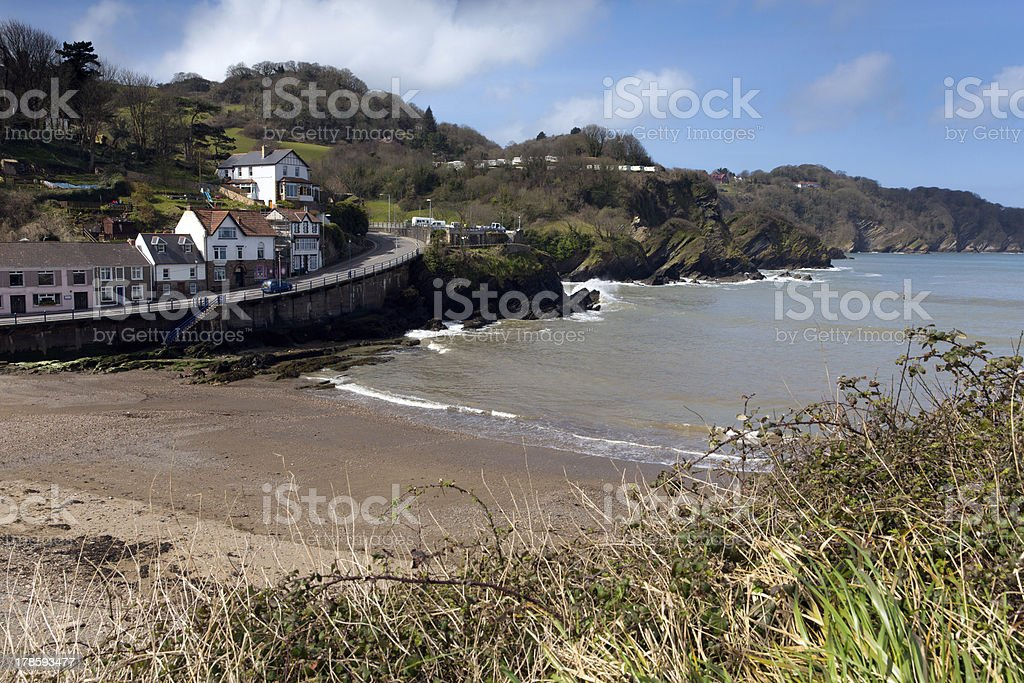 Combe Martin Devon stock photo