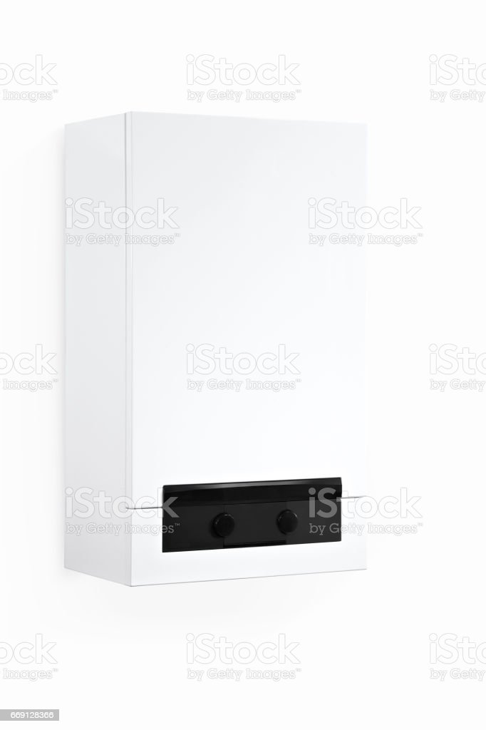 combi boiler with clipping path stock photo