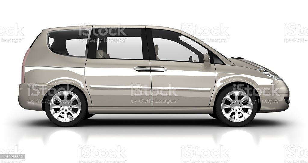 Combi car in studio - isolated with clipping path royalty-free stock photo