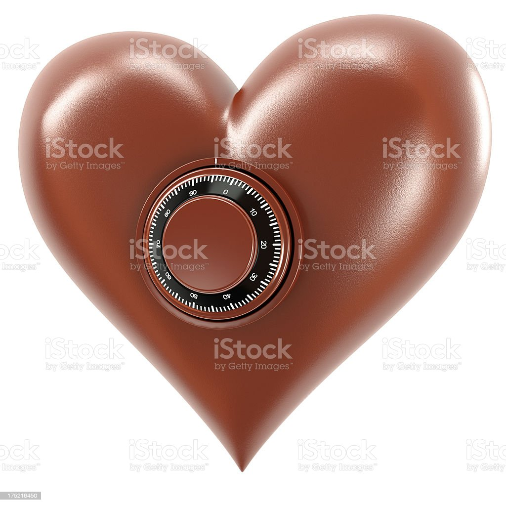 Combination heart royalty-free stock photo